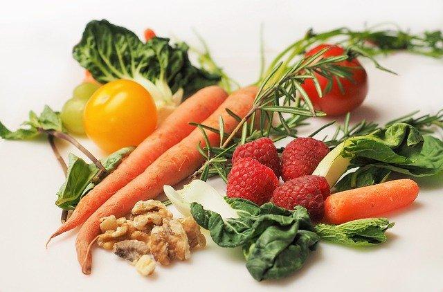 zelenina, ovoce, ořechy