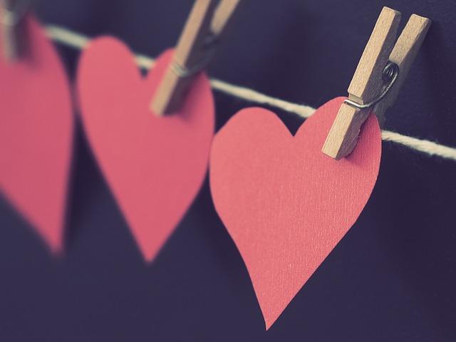 srdce jako dekorace