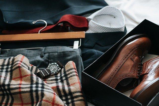 příprava obleku